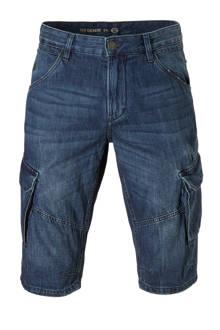 The Denim regular fit jeans bermuda blauw