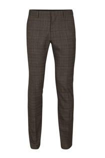 WE Fashion geruite slim fit pantalon  (heren)