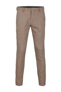 WE Fashion slim fit pantalon met ruit (heren)