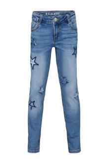 Blue Ridge girlfriend fit jeans met sterren patches