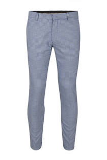 WE Fashion slim fit pantalon blauw (heren)