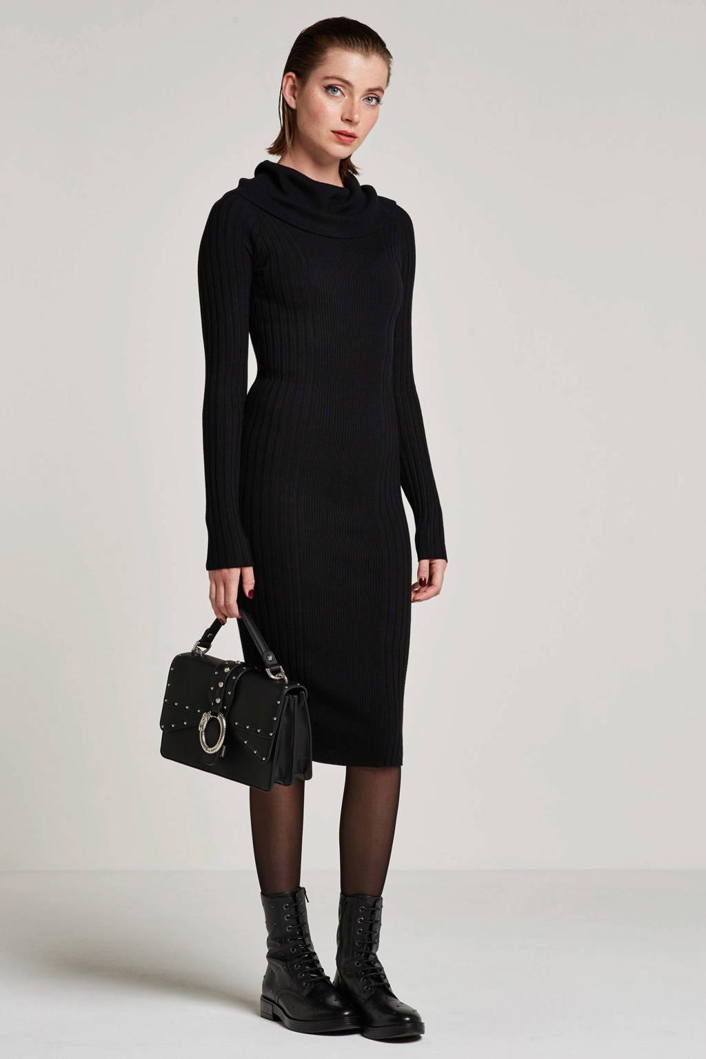 Noisy may gebreide jurk, Zwart