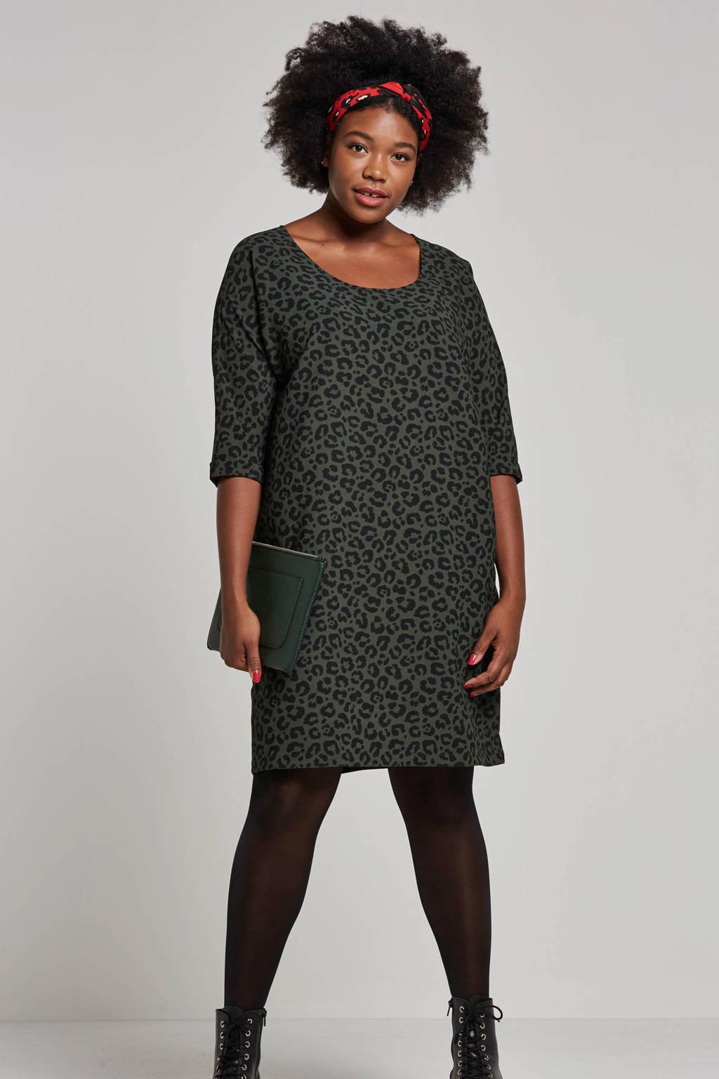whkmp's great looks jurk met dierenprint groen/zwart, Groen/zwart