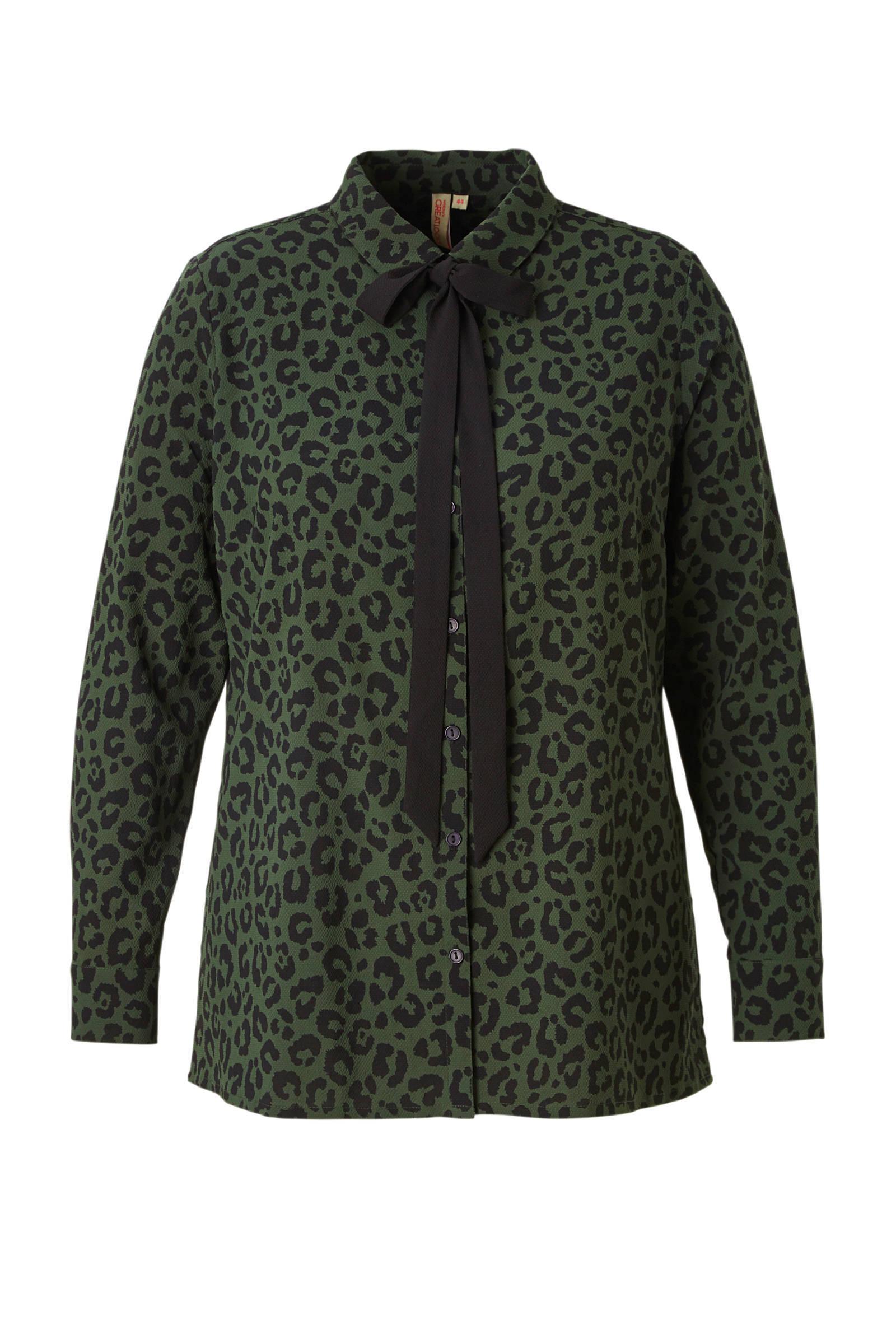 whkmp's great looks blouse met luipaardprint (dames)