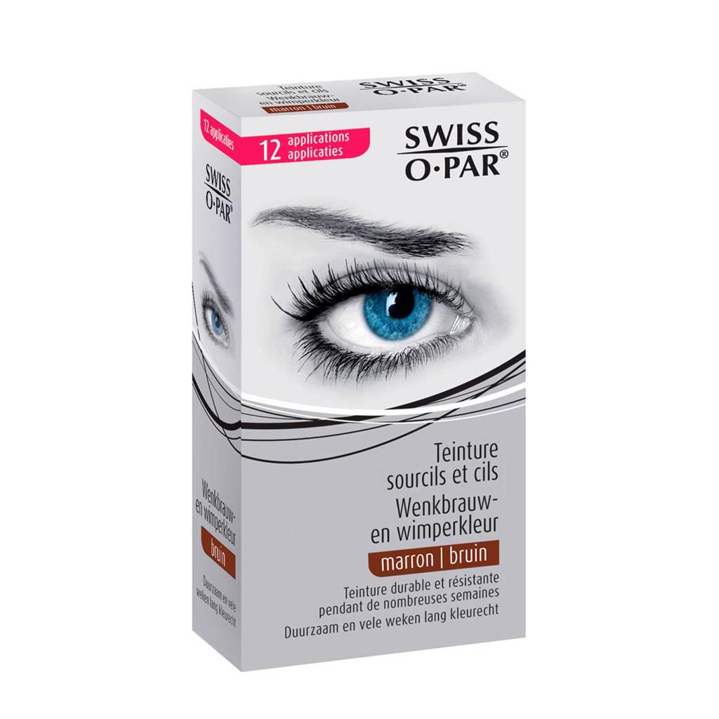 Swiss o par Eyebrow and Eyelash Dye - bruin, Brown