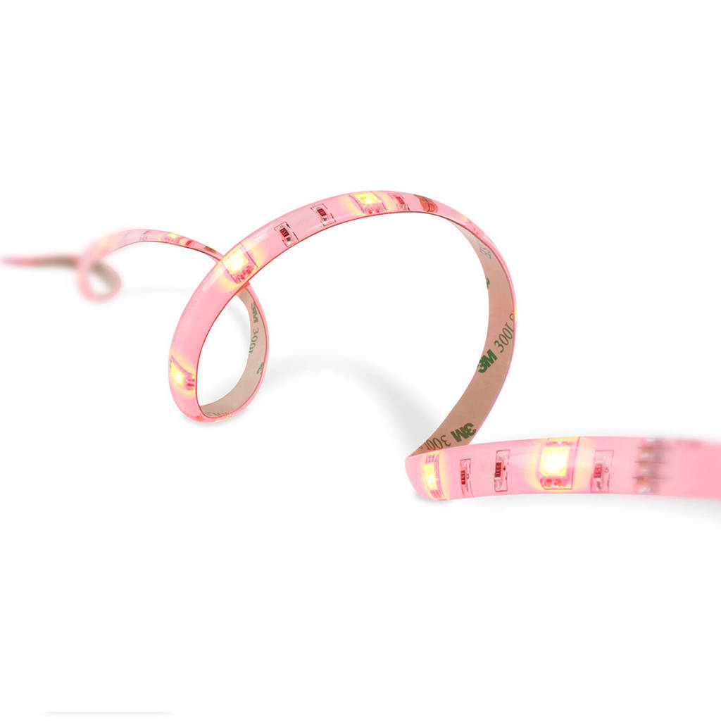 home sweet home LED strip (4 meter), Roze