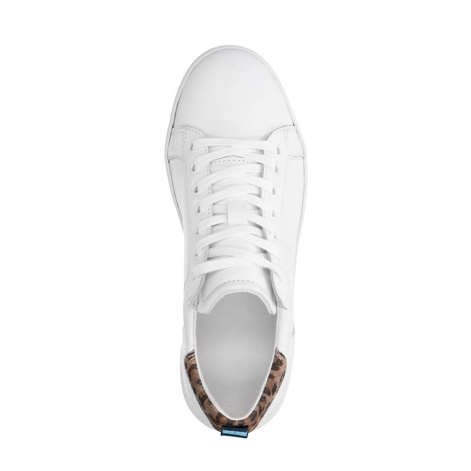 90dc3aed44f Manfield leren sneakers met luipaardprint wit   wehkamp