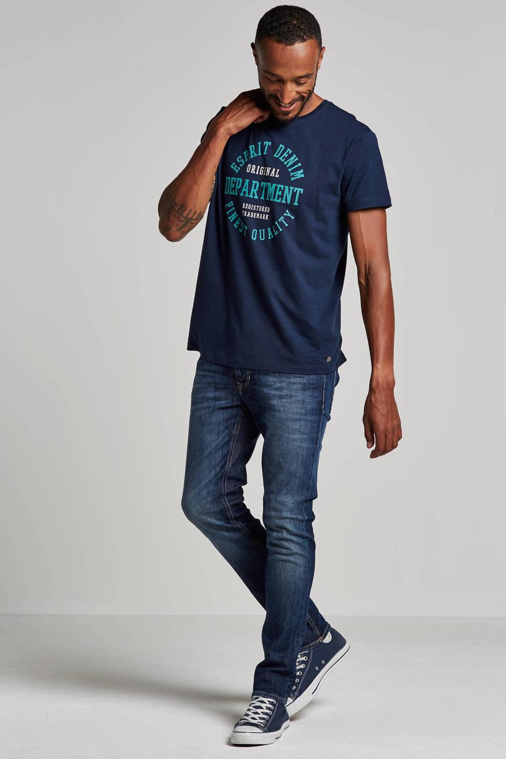 MAC slim fit jeans Stan, Blauw