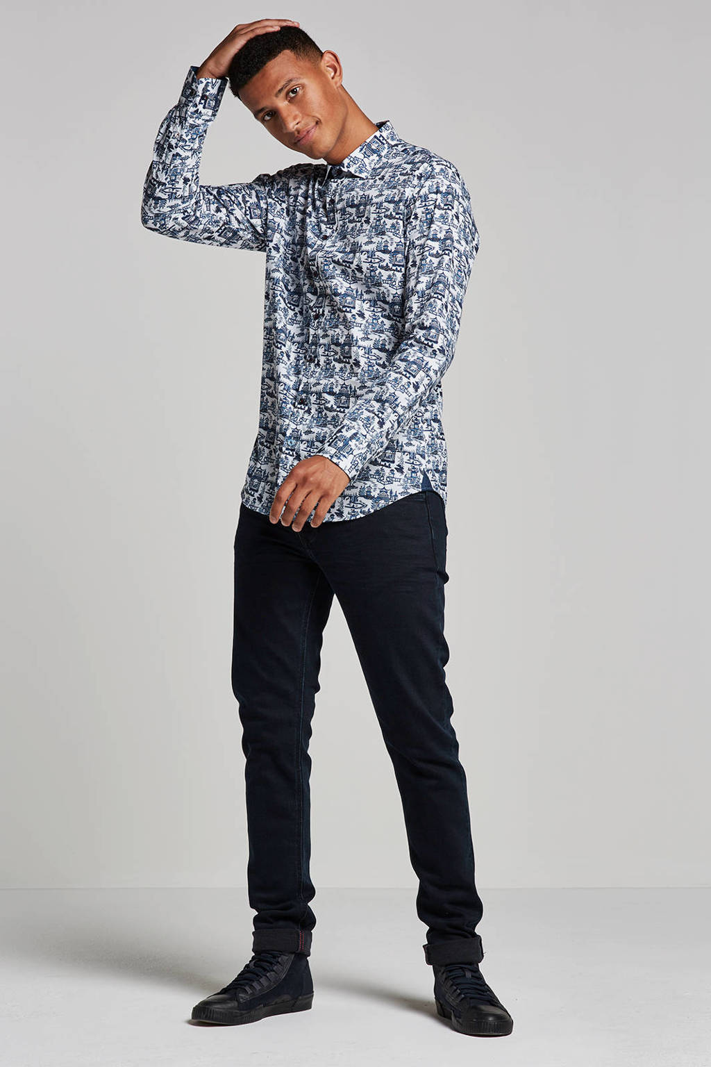 MAC slim fit jeans Stan, Dark denim