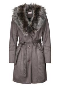 Cassis coat met imitatiebont (dames)