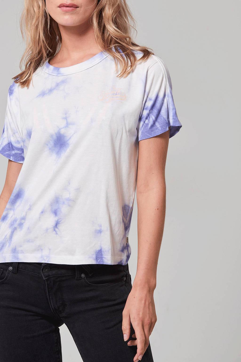 America Today T-shirt Envy met tie-dye print, Ecru/paars