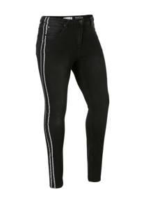 Zhenzi slim fit jeans met zijstreep (dames)