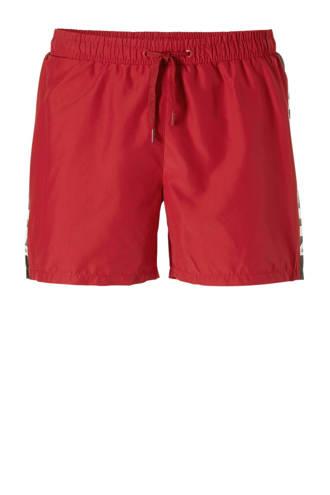 Ballin by Purewhite zwemshort met printopdruk rood