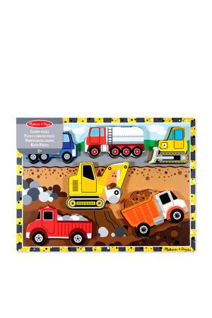 voertuigen houten vormenpuzzel 6 stukjes