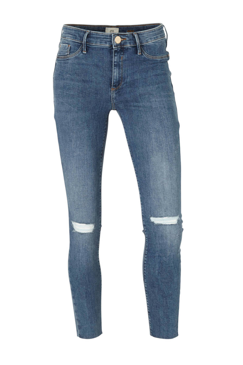 River Island Molly mid rise skinny jeans blauw, Blauw