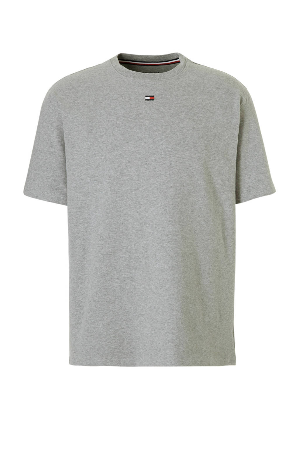 Tommy Hilfiger pyjamatop met katoen grijs mêlee, grijs mêlee
