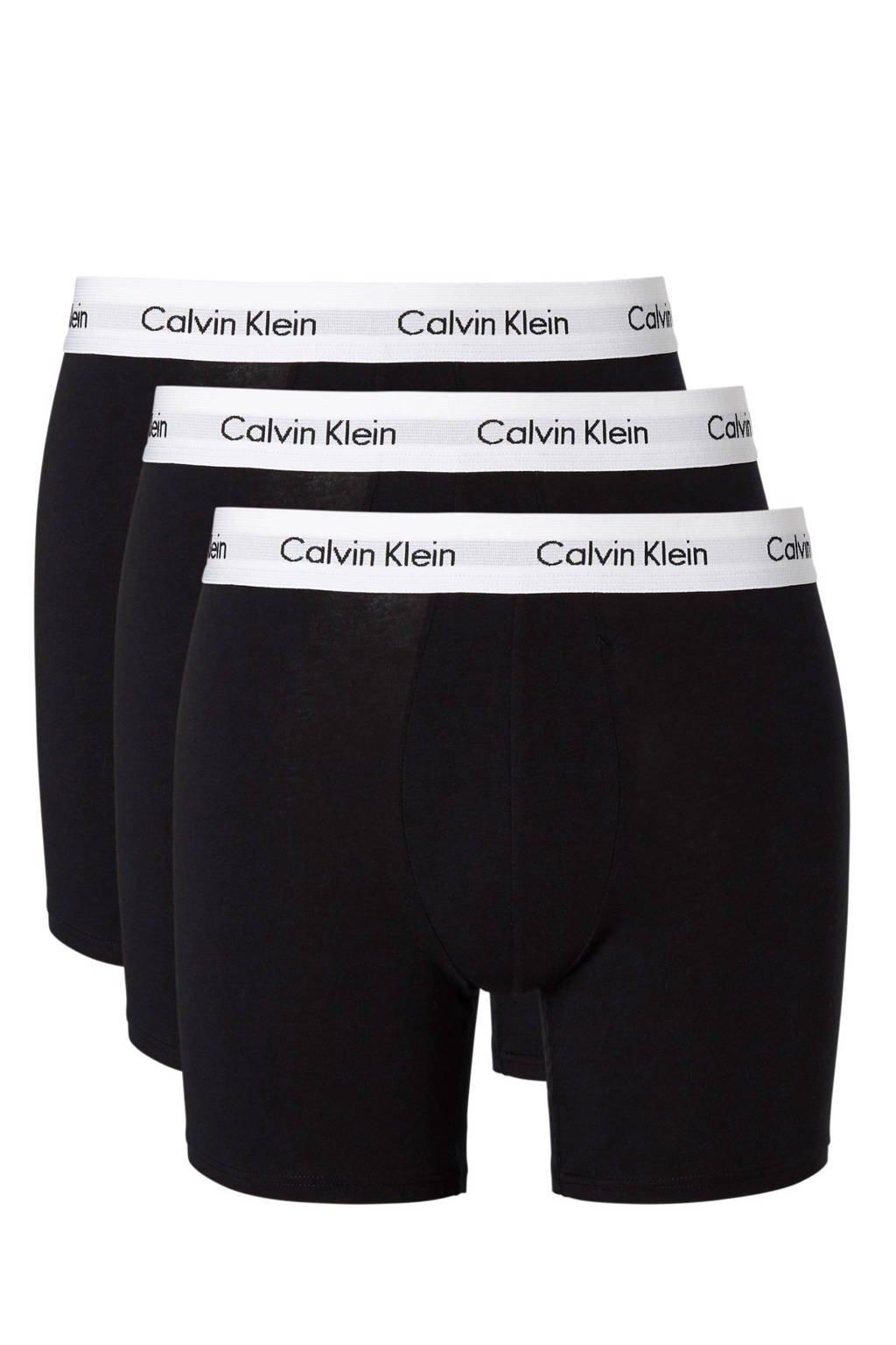 CALVIN KLEIN UNDERWEAR boxershort (set van 3), Zwart/wit