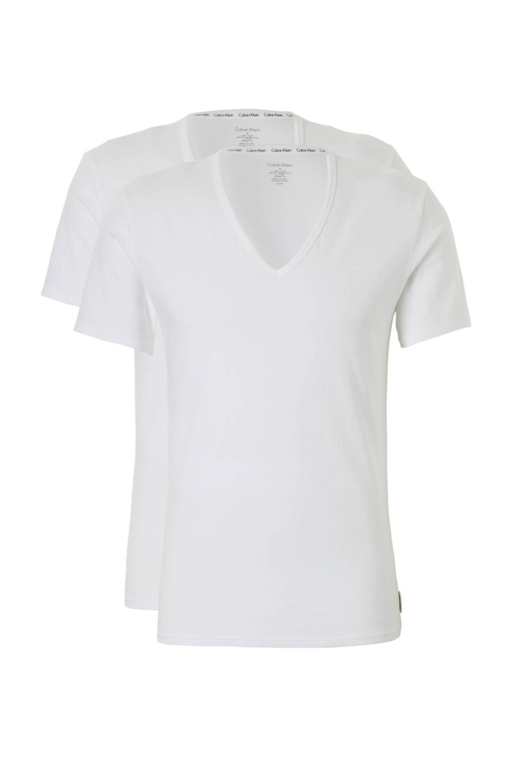 CALVIN KLEIN UNDERWEAR T-shirt (set van 2), Wit