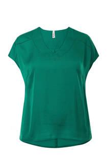 Miss Etam Plus top groen (dames)