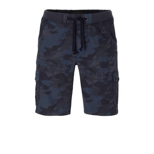 camouflage cargo bermuda grijsblauw