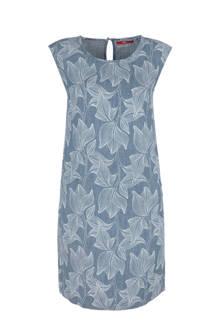 jurk met linnen blauw