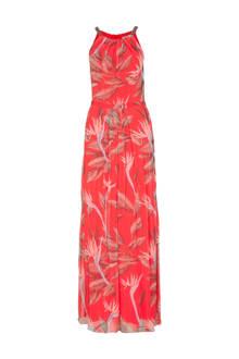 gebloemde jurk koraalrood