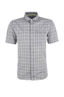 geruite overhemd grijs