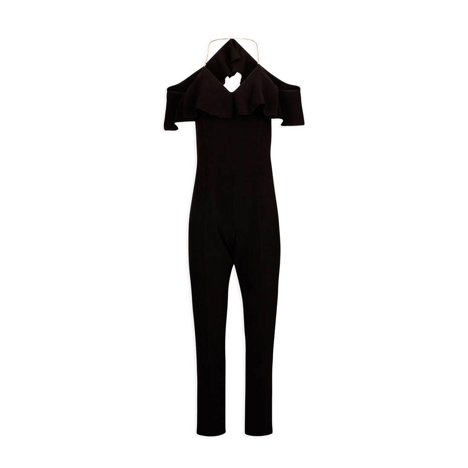 Open Shoulder Jumpsuit Zwart by Wehkamp