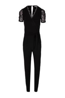slim fit jumpsuit met kant zwart