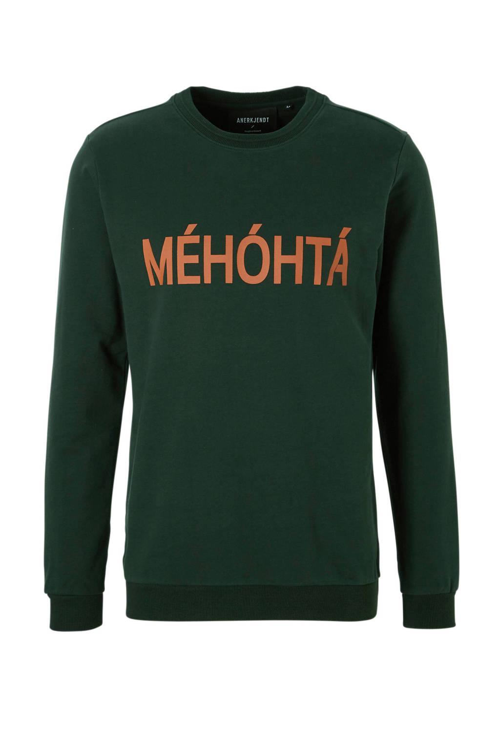 Anerkjendt Love sweater, Groen/oranje