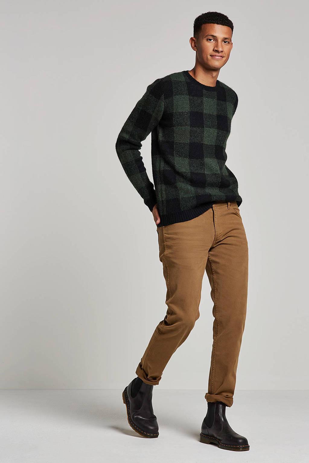 Anerkjendt trui met wol, Groen/blauw