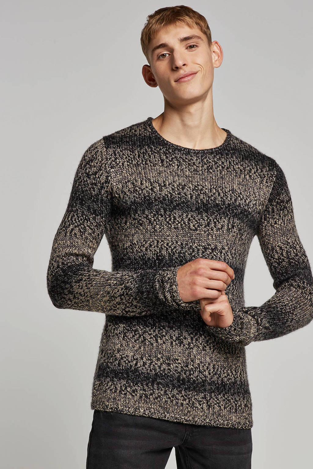Anerkjendt trui met wol, Grijs