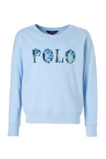 POLO Ralph Lauren sweater met logo lichtblauw (meisjes)