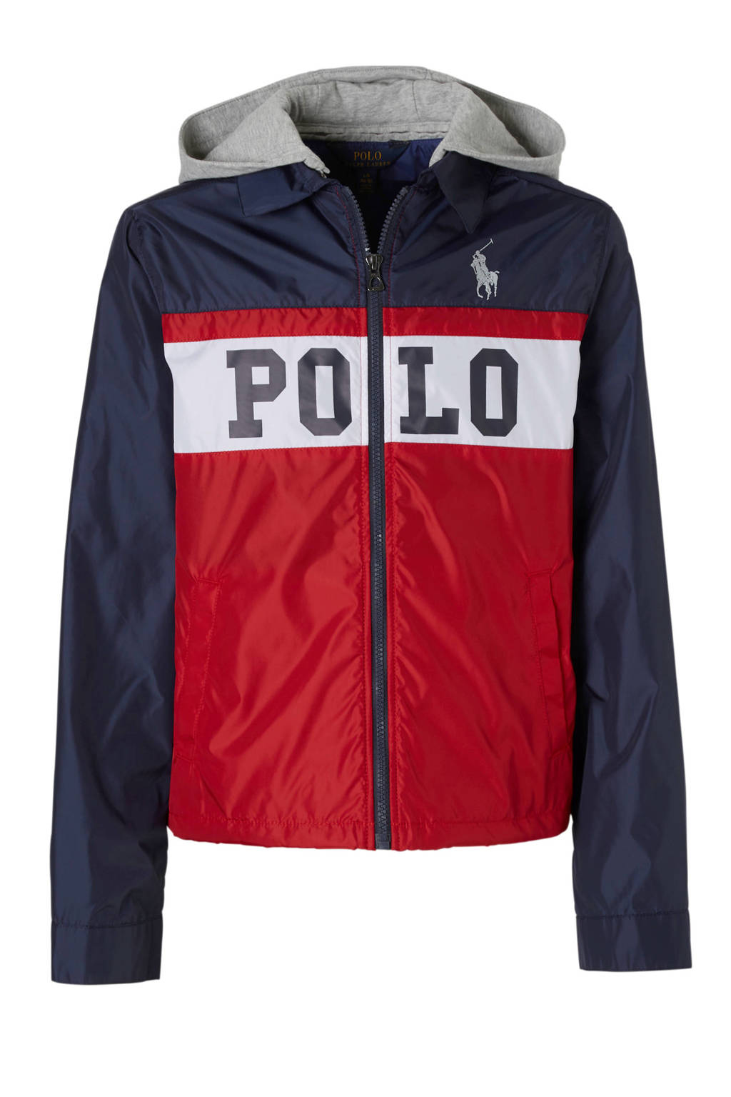 POLO Ralph Lauren zomerjas rood, Rood/donkerblauw/wit