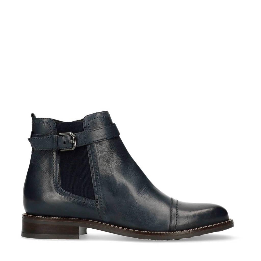 Boots Blauw Leren Met Gesp Chelsea Decoratieve Manfield xOBAqPwEB