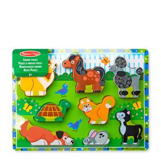 huisdieren houten vormenpuzzel 8 stukjes
