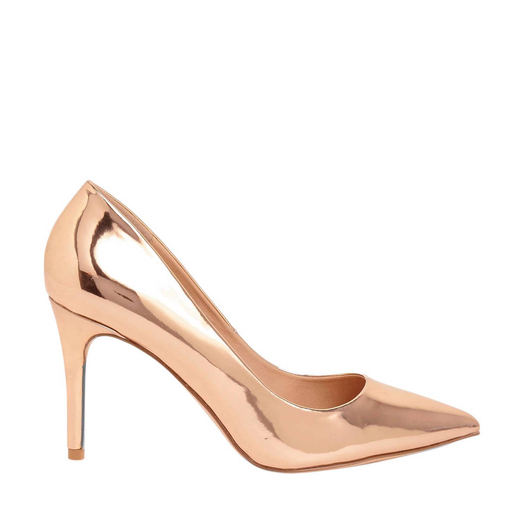 River Island   metallic pumps, Rosé
