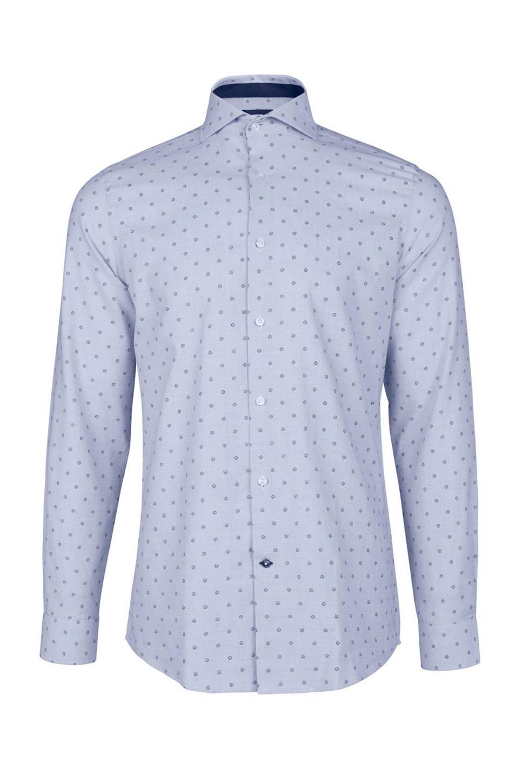 We Overhemd Heren.We Fashion Slim Fit Overhemd Met Stippenprint Lichtblauw Heren