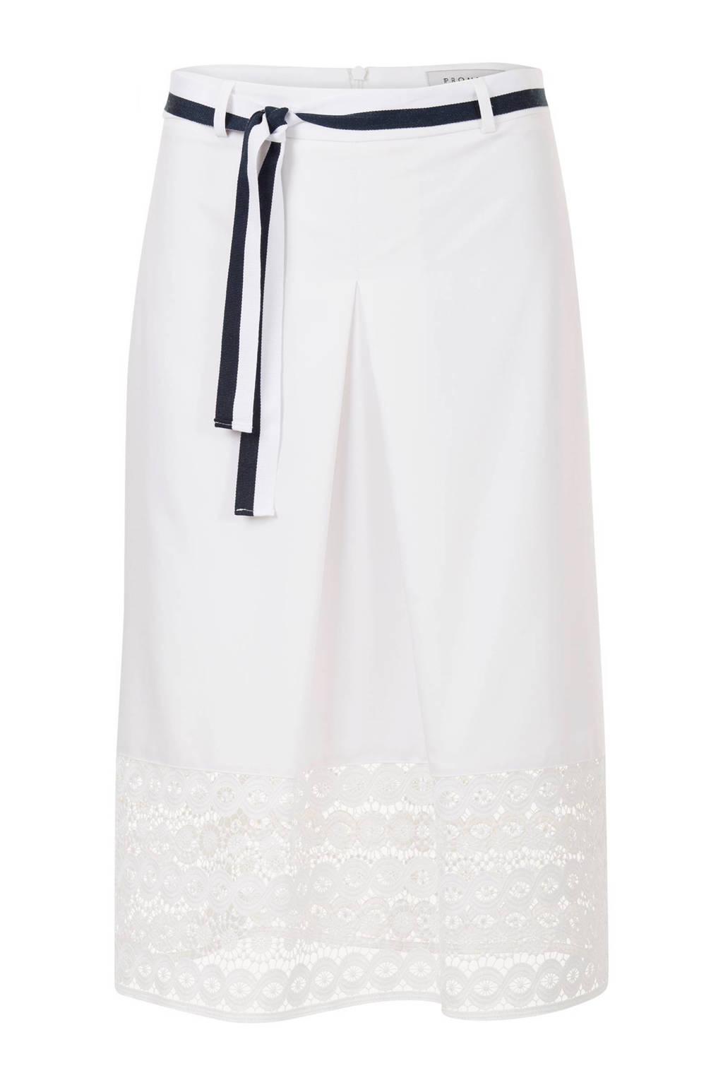 Promiss jurk met kant gebroken wit, Wit