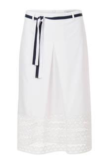 jurk met kant gebroken wit