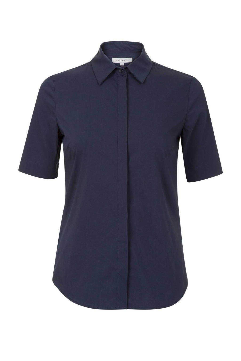 Promiss blouse donkerblauw, Donkerblauw