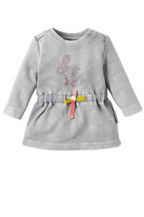 Noppies baby jurk Tyrus met konijn grijs