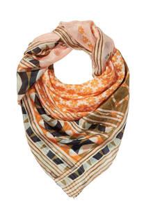 Didi zijde sjaal met all-overprint lichtroze