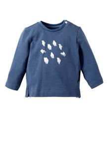 baby longsleeve Toccoa middenblauw
