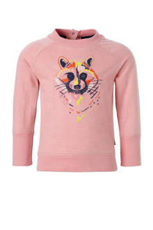 sweater Toney met borduursels roze
