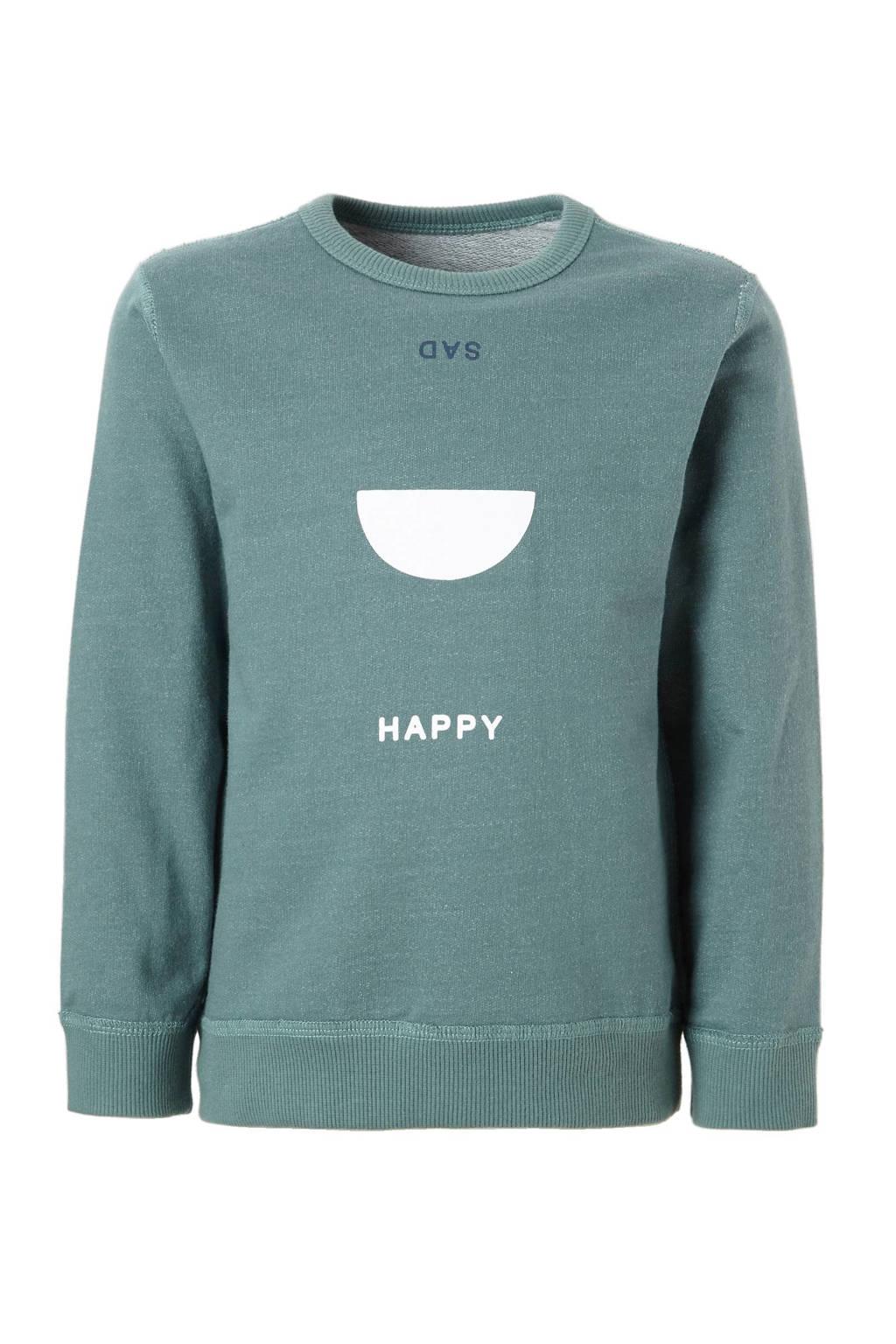 Noppies omkeerbare sweater Vidor grijsgroen, Grijsgroen