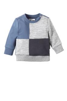 baby sweater Towson grijs/blauw