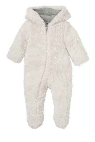 newborn fluffy onesie Theodore ecru