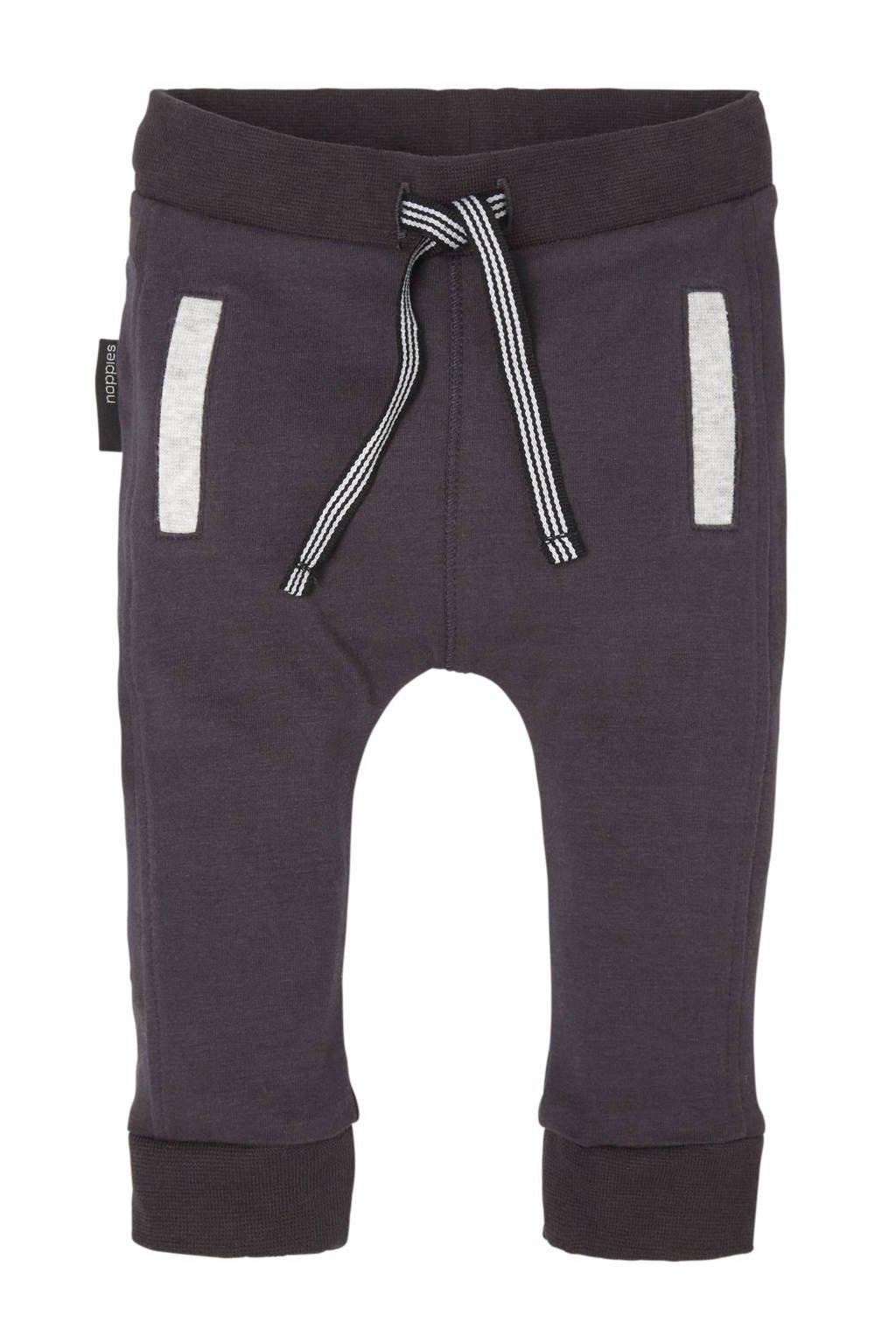 Noppies baby broek Wahpeton blauw, Donkerblauw/grijs