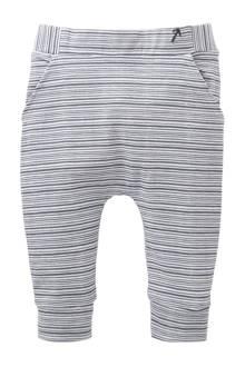 newborn gestreepte broek Tampa wit/grijs
